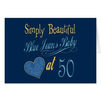 Simply Beautiful 50th Birthday Card