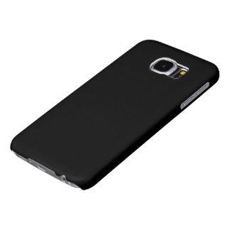 Simply Black Solid Color Samsung Galaxy S6 Cases