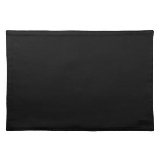 Simply Black Solid Color Place Mats