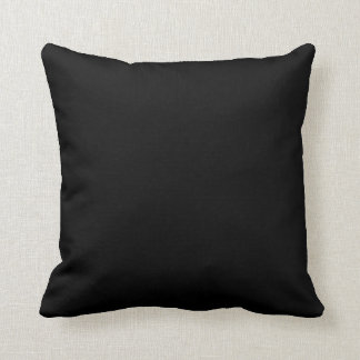Simply Black Solid Color Throw Cushion