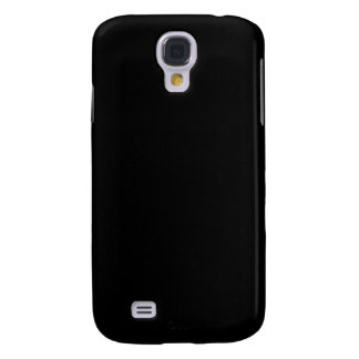 Simply Black Solid Color Customize It Galaxy S4 Case