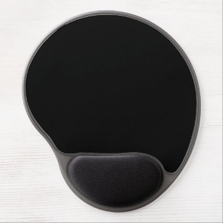 Simply Black Solid Color Customize It Gel Mouse Pad