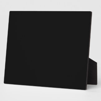 Simply Black Solid Color Customize It Plaques