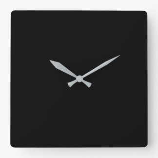 Simply Black Solid Color Customize It Wallclock