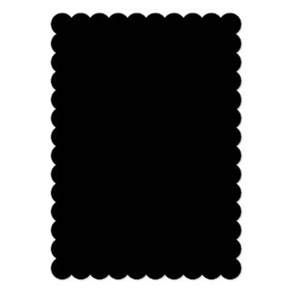 Simply Black Solid Color 5x7 Paper Invitation Card