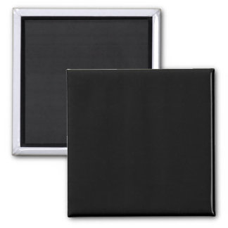 Simply Black Solid Color Square Magnet