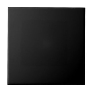 Simply Black Solid Color Small Square Tile