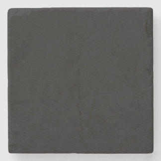 Simply Black Solid Color Stone Coaster