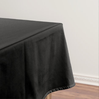 Simply Black Solid Color Tablecloth