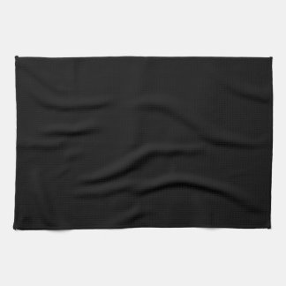 Simply Black Solid Color Towels