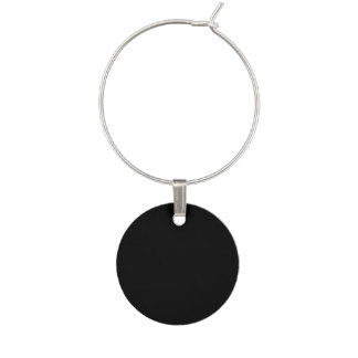 Simply Black Solid Color Wine Charm