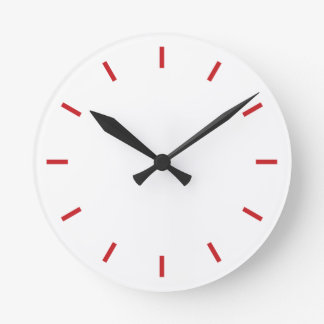 Simply clock with red dials