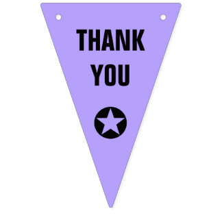 Simply colors & Icons + your Text: THANK YOU Bunting