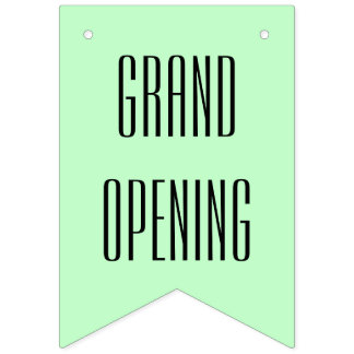 Simply colors & your Text: GRAND OPENING Bunting