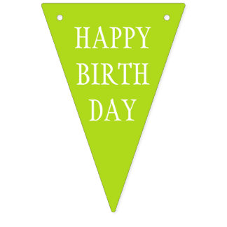 Simply colors & your Text: HAPPY BIRTHDAY Bunting