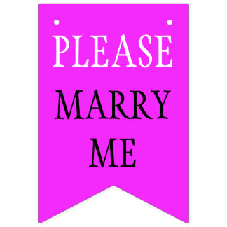 Simply colors & your Text: PLEASE MARRY ME Bunting