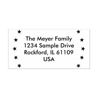 Simply Design Stars - Your Address & ideas Self-inking Stamp