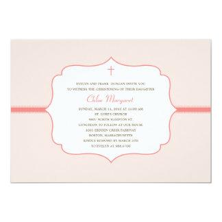 Simply Elegant Baptism/Christening Invite - Pink