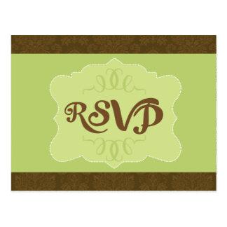Simply green RSVP card