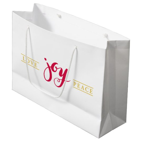 Simply Love Joy Peace Holiday Gift Bag