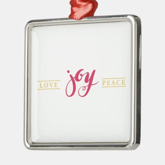 Simply Love Joy Peace Holiday Ornament