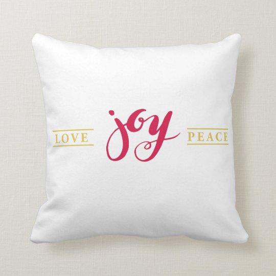 Simply Love Joy Peace Holiday Pillow
