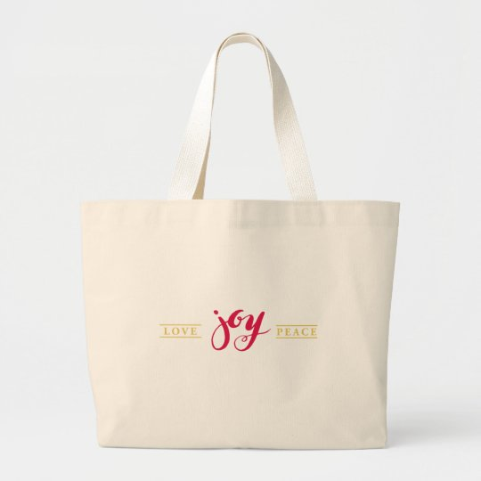 Simply Love Joy Peace Jumbo Tote Bag
