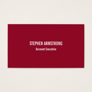 Simply modern red minimalist professional business card
