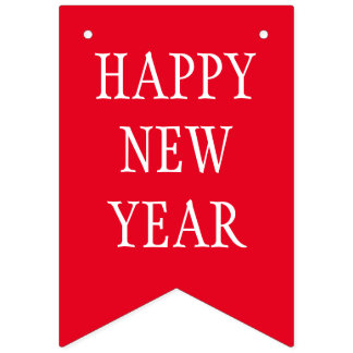 Simply RAINBOW colors & your Text: HAPPY NEW YEAR Bunting