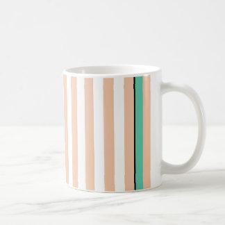 simply stripes mint dusty coffee mug