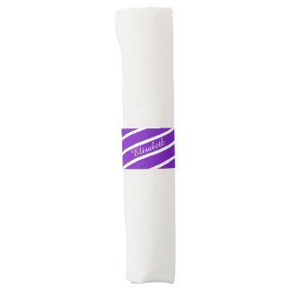 Simply Stripes purple + your backgr. & Name Napkin Band
