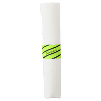 Simply Stripes spring green + your backgr. & Name Napkin Band