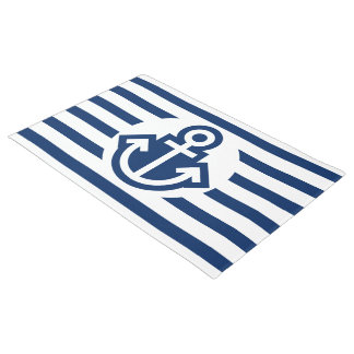 Simply Symbols - ANCHOR & STRIPES + your ideas Doormat