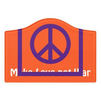 Simply Symbols / Icons - PEACE + ideas Door Sign