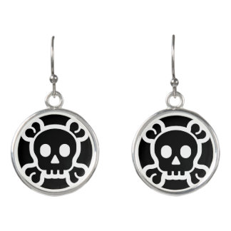 Simply Symbols / Icons - SKULL & BONES + ideas Earrings
