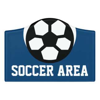 Simply Symbols / Icons - SOCCER BALL + ideas Door Sign