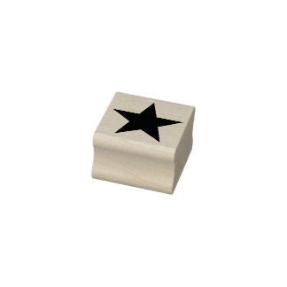 Simply Symbols / Icons - STAR full + ideas Rubber Stamp