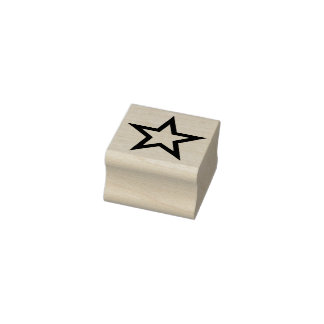 Simply Symbols / Icons - STAR outline + ideas Rubber Stamp
