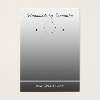 Simply Template for an Earrings Display - grey Business Card