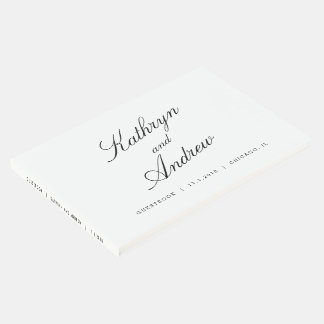 Simply Us EDITABLE COLOR Wedding Guest Book
