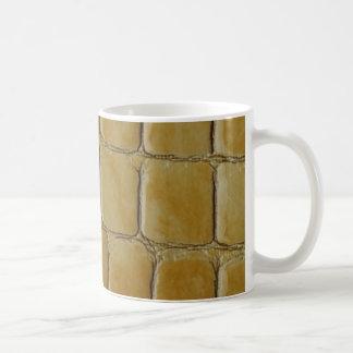 Simulated Snake Skin Basic White Mug