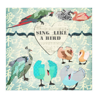 Sing Like A Bird Canvas Art Stretched Canvas Print