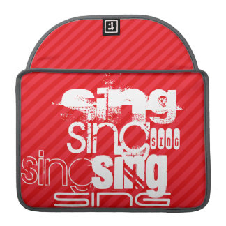 Sing; Scarlet Red Stripes Sleeve For MacBooks