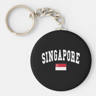 SINGAPORE BASIC ROUND BUTTON KEY RING