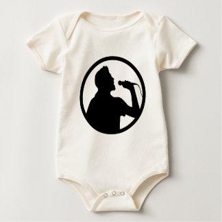 Singer Icon - Karaoke Logo Baby Bodysuit