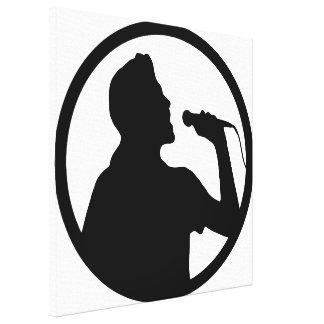 Singer Icon - Karaoke Logo Canvas Print