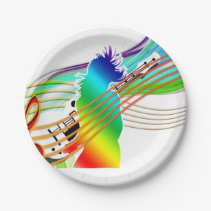 singer With Guitar Party Paper Plates  sc 1 st  Zazzle NZ & Music Paper Plates u0026 Music Disposable Plate Designs   Zazzle.co.nz