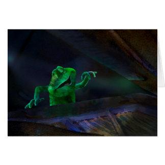 Singing Frog at Piano 2 Card