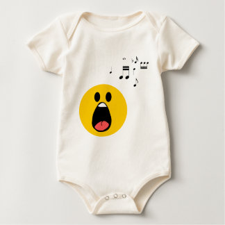 Singing smiley baby bodysuit