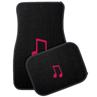 Single Bar Music Note Black & Pink Car Floor Mats